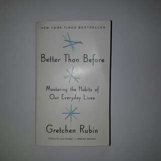 non fiction Book : Better than Before
