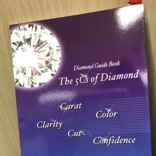 Free Booklet for understanding diamond 免費:介紹鑽石質素及清潔方法,