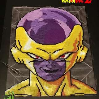 Hama beads design Dragon Ball Z Characters golden frieza