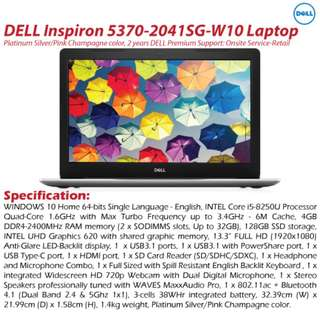 DELL Inspiron 5370-2041SG-W10 Laptop
