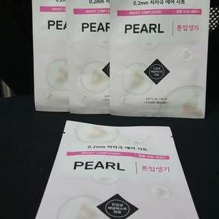 Etude house sheet mask 0.2mm pearl