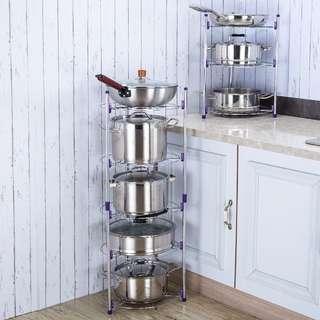 廚房置物架 鍋架 儲物架 收納鍋架子