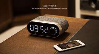 Remax RB-M26 Portable Wireless Bluetooth Fabric Speaker with Alarm Clock/Radio