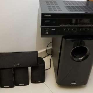 Onkyo TX-SR308 & SKS-HT528  5.1 家庭影院套裝喇叭