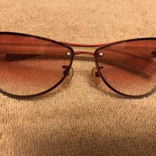Jill Stuart 小雷朋漸層皮革鏡架太陽眼鏡百分百正品#超取再七折