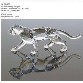 Swarovski 水晶擺設 LEOPARD