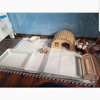 Acrylic Cage (2 sets) - Guinea Pigs/Hamsters