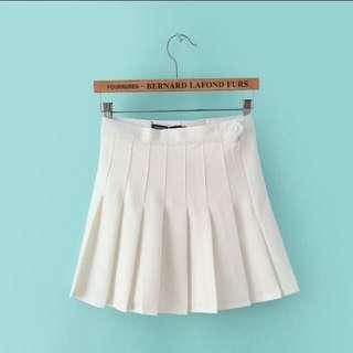 🚚 韓版白色百褶裙