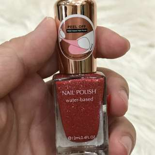 Miniso nail polish water based peel off red atau kutek miniso