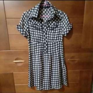 兩件式 格子襯衫洋裝