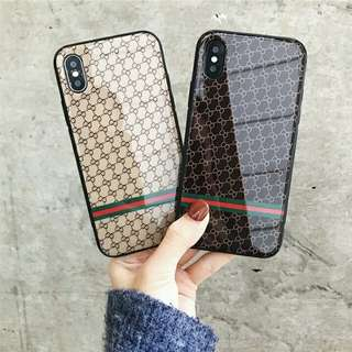 ⚠ Pre-order! Cool Ulzzang leather like theme design Hard Glossy Phone Case For IPhone 6, 6S, 6 plus, 6S Plus, 7, 7 Plus, 8 & 8 Plus and X! (Enquire for availability!)