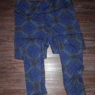 Pre-loved Women Yoga Exercise Pants Blue