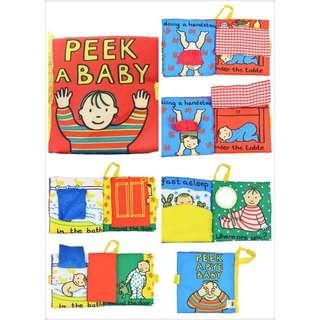Jollybaby Peek A Baby cloth book