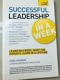 Successful leadership in a week #Bajet20