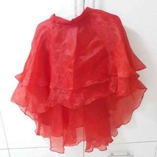 Red Full Skirt