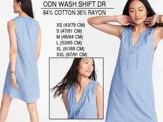 Branded ODN WASH SHIFT DRESS