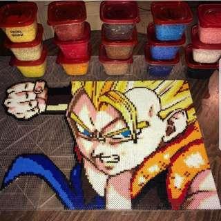 Hama beads design Dragon Ball Z Characters Gogeta