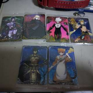 FGO Fate/Grand Order Wafer cards