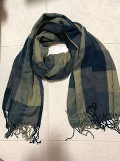 Shawl with checked prints