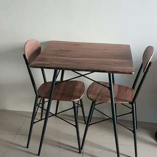 2-Seater Dining Table w/ Chairs
