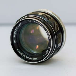 Minolta MC Rokkor-PF 58 mm f/1.4 Vintage Lens (*Wide Open Only)