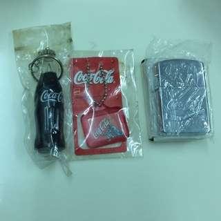 出售中古可口可樂鎖匙扣及火機
