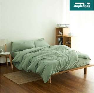 The Palmer (Green) - Fitted Bedsheet Set