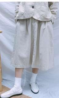 2littlebob- CO.  米白半腰裙
