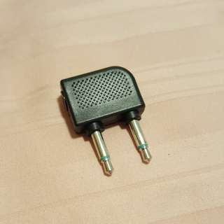 Airplane audio adaptor jack