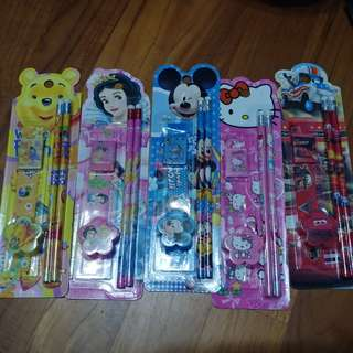 Buy 5 Free 1 - Cartoon 5in1 Stationery Set