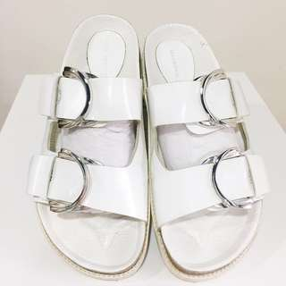 Zara genuine leather slides