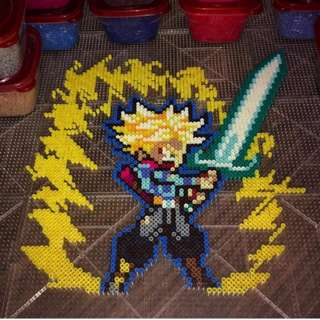 Hama beads design Dragon Ball Z Characters trunks energy sword