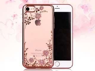 Iphone 7/ plus 手機殼(透明,配施華洛世奇水晶裝飾)