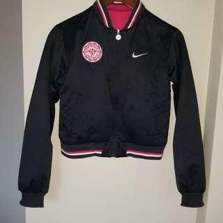 Reversible Nike bomber jacket XS