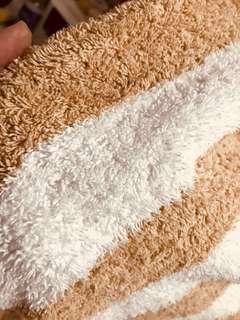 Beige stripe thick Bath Towels