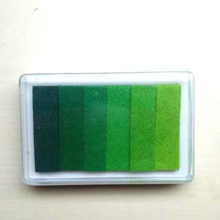 TO BLESS: Free Korean Gradient Green Inkpad, Multi-colour Stamp Pad, 9.3x6.2 cm, Bought In Seoul, #BLESSINGS
