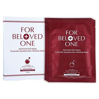 for beloved one advanced anti aging ceramide squalane bio-cellulose mask