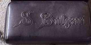 S. Bulgari Zippy vintage wallet