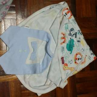 Baby blanket and baby bib