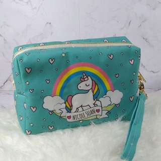 Personalised 3in1 canvas pouch& sling bag - Unicorn 02