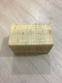 Bamboo & Straw Storage Box