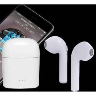 Airpods 同款 雙耳真無線藍芽耳機 I7S TWS Wireless Bluetooth headphone portable Mini headset charger box 連充電盒