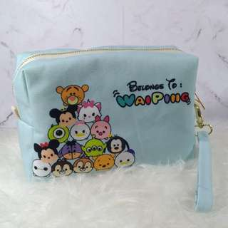 Personalised 3in1 pouch, clutch & sling bag (TsumTsum)