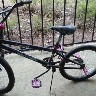 BMX Bike with safety gear