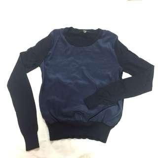 Uniqlo Navy Cashmere Sweater