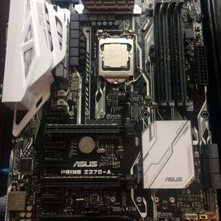 7700k + Asus z270 Prime A