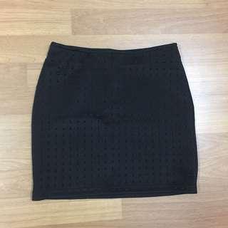 Nichii Black Bodycon Skirt
