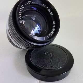 Helios-103,  53mm f1.8 zorki lens