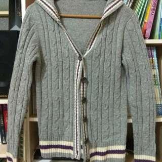 針織學院風外套