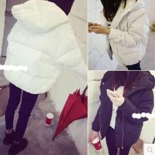 全新 韓版時髦長袖連帽外套 白色 超便宜出售